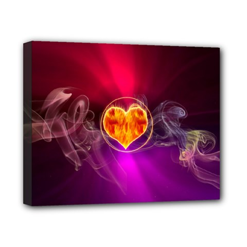 Flame Heart Smoke Love Fire Canvas 10  X 8  (stretched) by HermanTelo
