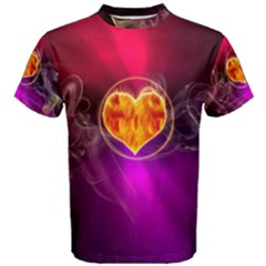 Flame Heart Smoke Love Fire Men s Cotton Tee