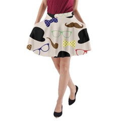 Moustache Hat Bowler A Line Pocket Skirt
