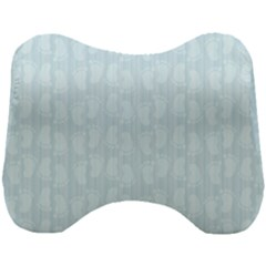 Footprints Pattern Paper Scrapbooking Blue Head Support Cushion
