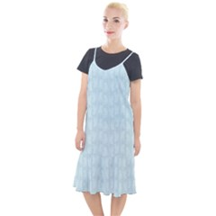 Footprints Pattern Paper Scrapbooking Blue Camis Fishtail Dress by HermanTelo