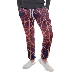 Light Fiber Black Fractal Art Men s Jogger Sweatpants by HermanTelo