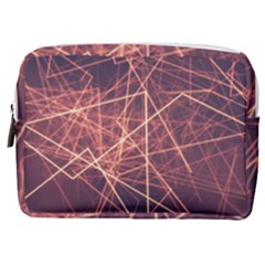Light Fiber Black Fractal Art Make Up Pouch (medium) by HermanTelo