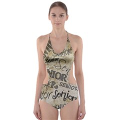 Graduation School Celebration Cut Out One Piece Swimsuit
