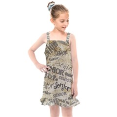 Graduation School Celebration Kids  Overall Dress