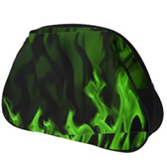 Smoke Flame Abstract Green Full Print Accessory Pouch (big)