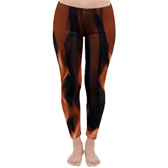 Smoke Flame Abstract Orange Red Classic Winter Leggings by HermanTelo