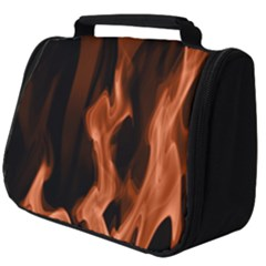 Smoke Flame Abstract Orange Red Full Print Travel Pouch (big)