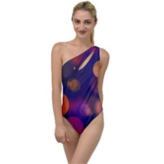 Seamless Pattern Design Tiling To One Side Swimsuit