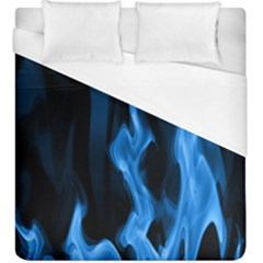 Smoke Flame Abstract Blue Duvet Cover (king Size)