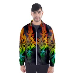 Smoke Rainbow Abstract Fractal Men s Windbreaker