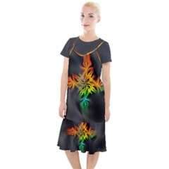 Smoke Rainbow Abstract Fractal Camis Fishtail Dress
