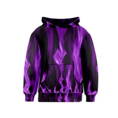 Smoke Flame Abstract Purple Kids  Pullover Hoodie by HermanTelo