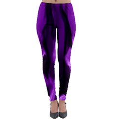 Smoke Flame Abstract Purple Lightweight Velour Leggings by HermanTelo