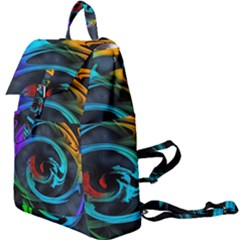 Rainbow Fractal Clouds Stars Buckle Everyday Backpack