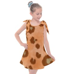 Seamless Tile Background Abstract Kids  Tie Up Tunic Dress