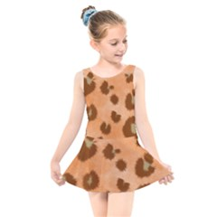 Seamless Tile Background Abstract Kids  Skater Dress Swimsuit