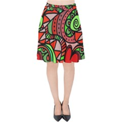 Seamless Heart Love Valentine Velvet High Waist Skirt