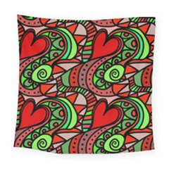 Seamless Heart Love Valentine Square Tapestry (large) by HermanTelo