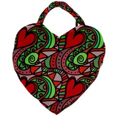 Seamless Heart Love Valentine Giant Heart Shaped Tote by HermanTelo