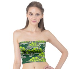 Seamless Turtle Green Tube Top by HermanTelo