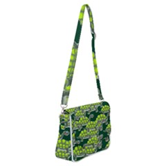 Seamless Turtle Green Shoulder Bag With Back Zipper