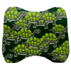 Seamless Turtle Green Velour Head Support Cushion