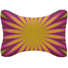Petal Flower Fractal Fabric Floral Seat Head Rest Cushion by HermanTelo