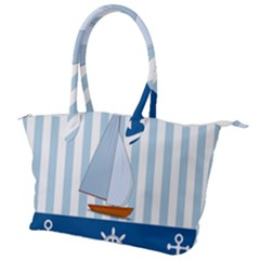 Yacht Boat Nautical Ship Canvas Shoulder Bag