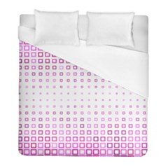 Square Pink Pattern Decoration Duvet Cover (full/ Double Size) by HermanTelo