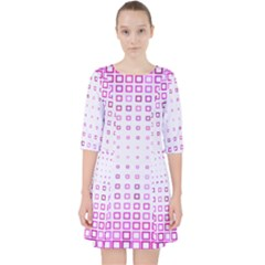 Square Pink Pattern Decoration Pocket Dress by HermanTelo