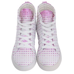 Square Pink Pattern Decoration Women s Hi-top Skate Sneakers