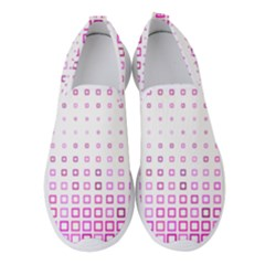 Square Pink Pattern Decoration Women s Slip On Sneakers by HermanTelo