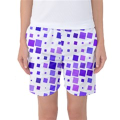 Square Purple Angular Sizes Women s Basketball Shorts