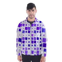 Square Purple Angular Sizes Men s Windbreaker
