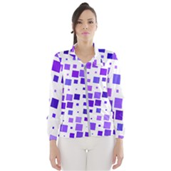 Square Purple Angular Sizes Women s Windbreaker by HermanTelo