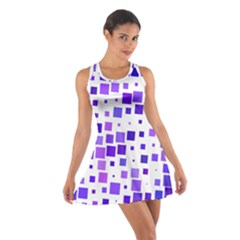 Square Purple Angular Sizes Cotton Racerback Dress by HermanTelo