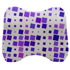 Square Purple Angular Sizes Velour Head Support Cushion