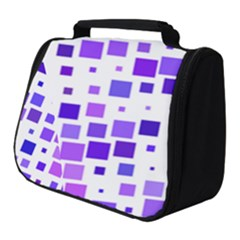 Square Purple Angular Sizes Full Print Travel Pouch (small) by HermanTelo
