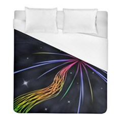 Stars Space Firework Burst Light Duvet Cover (full/ Double Size) by HermanTelo