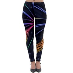 Stars Space Firework Burst Light Lightweight Velour Leggings by HermanTelo