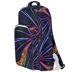 Stars Space Firework Burst Light Double Compartment Backpack