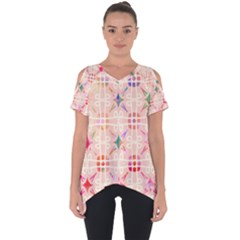 Watercolour Watercolor Paint Ink Cut Out Side Drop Tee