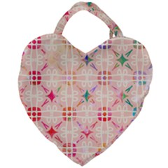 Watercolour Watercolor Paint Ink Giant Heart Shaped Tote by HermanTelo