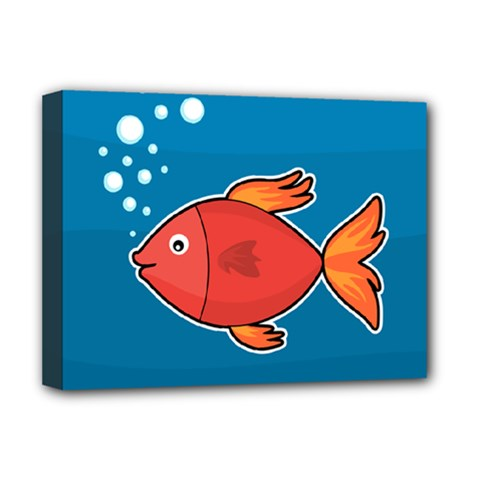 Sketch Nature Water Fish Cute Deluxe Canvas 16  X 12  (stretched)