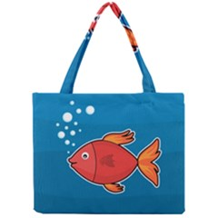 Sketch Nature Water Fish Cute Mini Tote Bag by HermanTelo