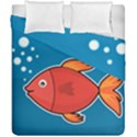 Sketch Nature Water Fish Cute Duvet Cover Double Side (California King Size) View1