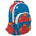 Sketch Nature Water Fish Cute Rounded Multi Pocket Backpack View2