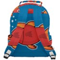 Sketch Nature Water Fish Cute Rounded Multi Pocket Backpack View3