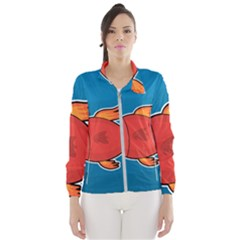 Sketch Nature Water Fish Cute Women s Windbreaker